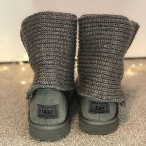 UGG boots- grey knit